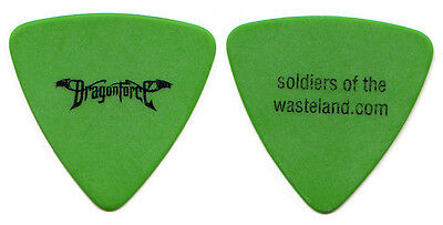 DRAGONFORCE Guitar Pick : 2004 Soldiers of the Wasteland Tour - green picks