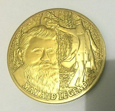 1 oz NED KELLY - MAN AND LEGEND finished in 999 24k Gold Medallion