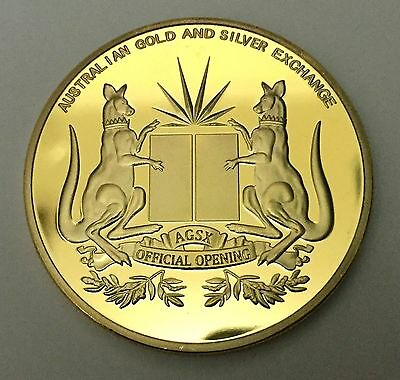 1 oz 2014 AGSX 1 XAU finished in 999 24k Gold Collector Medallion