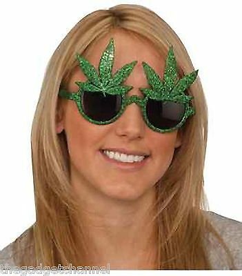 Funny Marijuana Cannabis Weed Pot Leaf Joke Sunglasses Novelty Boys Mens Present