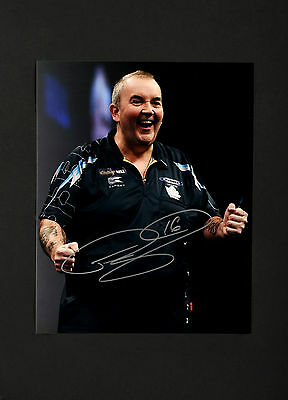 PHIL TAYLOR THE POWER DARTS HAND SIGNED PHOTO AUTHENTIC GENUINE + COA - 10x8