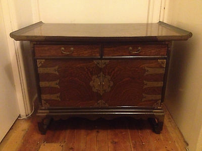 Antique Qing dynasty Chinese Polished Elm Altar Table Sideboard 19th century