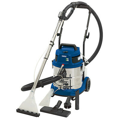 Draper 230v 1500W 20L Wet and Dry Shampoo / Vacuum Cleaner Stainless Tank 75442