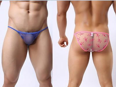 Wholesale 50Pcs Men's Sex mesh Bikinis Briefs Size M/L/XL Pants PANTIES #B125