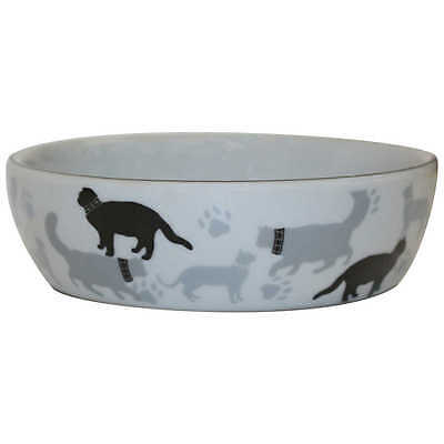 Vitapet CAT PRINT CERAMIC BOWL 13.3cm Small, Dishwasher-Safe *Australian Brand