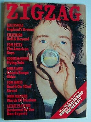 ZIGZAG 1977 JUNE No. 73 SEX PISTOLS JOHNNY ROTTEN TOM WAITS magazine