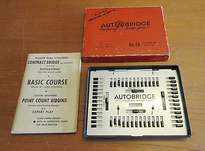 VINTAGE AUTOBRIDGE No.PB - PLAY YOURSELF BRIDGE GAME - DELUXE POCKET MODEL