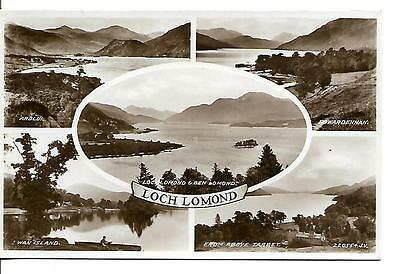 Loch Lomond. Multi view Postcard by Valentine's. (RP)  Unposted