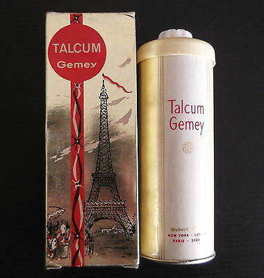 Vintage Talcum  Gemey Richard Hudnut Collectable Boxed with Powder