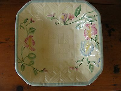 Decorative Beswick Wicker Effect Dish with floral decoration