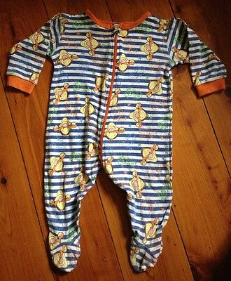 Disney Baby Tigger Unisex Zip Up Romper Bodysuit / One Piece Size 00