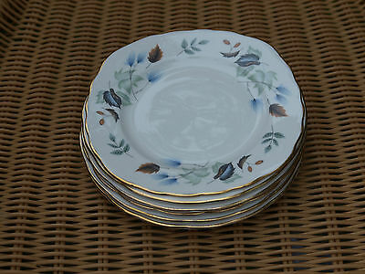 6 colclough side plates autumn leaf design china porcelain Ridgway sideplate