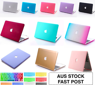 "Apple Logo CutOut Hard Case +Keyboard+Screen Cover MacBook Air Pro 11"" 13 Inch"