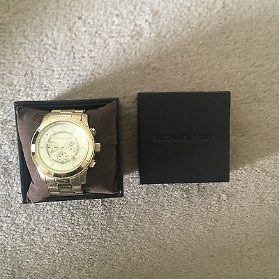 Michael Kors Runway Gold Mens Watch