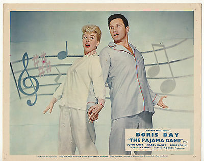 """"""" The Pajama Game """" Doris Day - 1957 Two  Original  Front Of House Cards."""