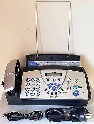 BROTHER FAX MACHINE FAX-837MCS - Untested - Lights Up & Beeps - As Pictured