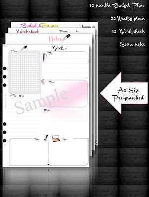 "Planner refill 2017, for Filofax or Kikki A5 size "" Shopaholic ""set"