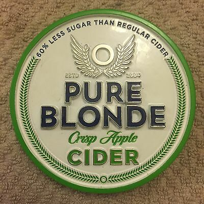 Pure Blond Apple Cider Beer Tap Badge, Decal, Top