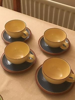 Denby Juice Tea Cup and Saucers X 4