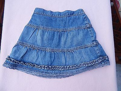 SUPER M&Co BABY GIRLS BLUE DENIM SKIRT AGE 18 - 24 MONTHS