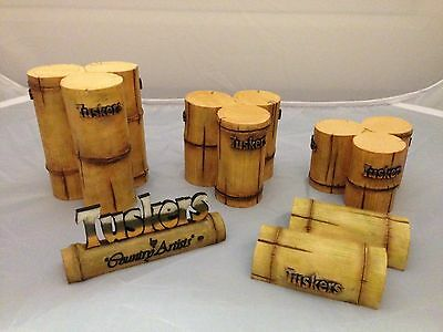 BNIB New Boxed TUSKERS Point of Sale BAMBOO Stands Podium #80048 Country Artists