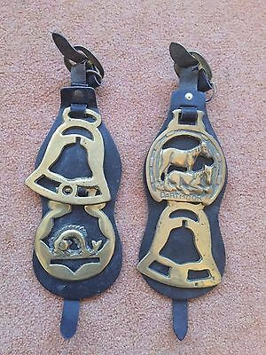 4 x horse brasses  and straps