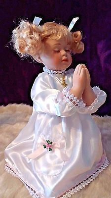 Collectors Praying Porcelain Angel Doll Figurine
