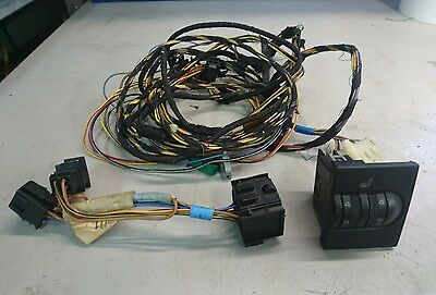 vw mk3 golf heated seat switch and loom
