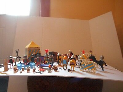 Vintage Playmobil Lot of Knights & Accessories Mugs of Beer, Horses, Axes & More