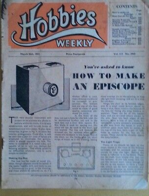 Vintage Magazine 1952 - How to Make An Episcope Projector