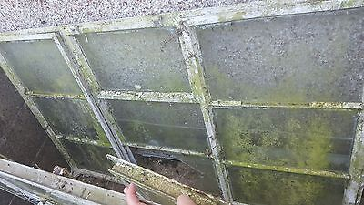 9 Panel Antique Metal Window with glass