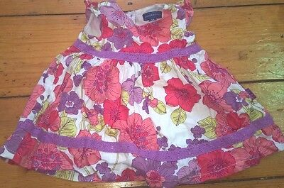 PUMPKIN PATCH pretty baby girls floral lace petticoat dress worn once 0-3m 000
