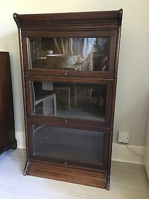 Antique Globe Wernicke Style Stacking Cabinets (3 Tier)