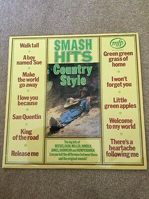 Country Style Smash Hits Vinyl Lp