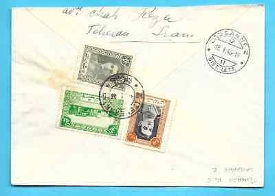 Persia 1945 air mail  Teheran to Lausanne Suisse
