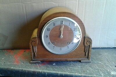 Vintage Antique Art Deco Garrard Pendulum Chiming Mantle Clock.
