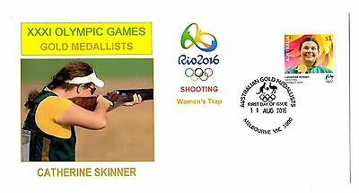 Rio Olympics Gold Medallist Catherine Skinner Trap Shooting FDC