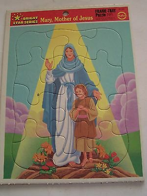 Vintage Bible Themed Malco Tray Puzzle- Mary, Mother Of Jesus-Bright Star Series