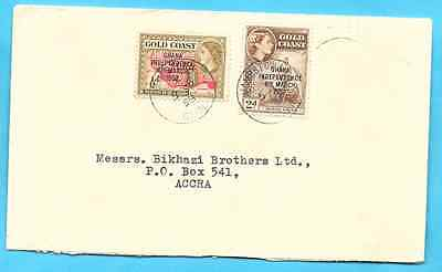 2 1/2 d rate to ACCRA GHANA / GOLD COAST cover 1958 - internal Accra usage