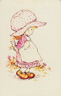 SARAH KAY CUTE GIRL ONE SINGLE VINTAGE Genuine SWAP PLAYING CARD *ONE OFF*