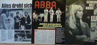 3 german clipping ABBA AGNETHA ANNAFRID FRIDA BENNY BJORN BOY BAND N. SHIRTLESS