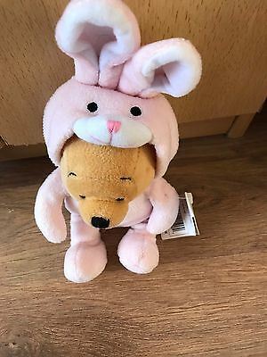 Disney Winnie the Pooh Easter bunny teddy with tags