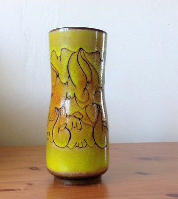 Poole Pottery Vase Yellow And Brown