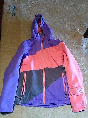 girls kids snow jacket size 10 12 ski snowboarding