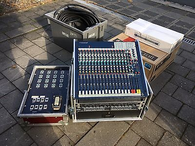 Soundcraft Spirt FX16II Mixer + Case + Multicore + Behringer + Peavey Bundle