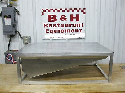 """Counter Top 18"""" Stainless / Aluminum Donut Icing Glazing Table w/ Hand Glazer"""