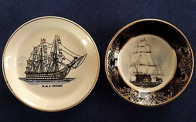 Lord Nelson Pottery. Weatherby and Sons. Two Dishes. H M S Victory.