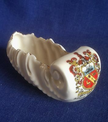 Crested China. Barrow in Furness. Sled / Sleigh.