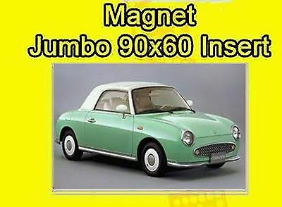 NISSAN FIGARO JUMBO FRIDGE MAGNET CAR BIRTHDAY FREE lst CLASS MAIL DAD DADDY NEW