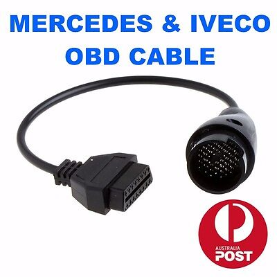 Mercedes 38 Pin to 16 Pin Female OBD2 OBDII Cable Diagnostic Adapter Connector